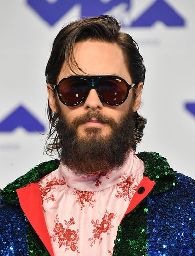 Jared Leto in Gucci at the 2017 MTV VMAs in LA, August 27.