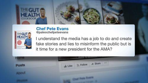 Evans hit back at critics on social media.