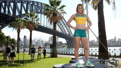 Champion hurdler Sally Pearson models the competition uniform.