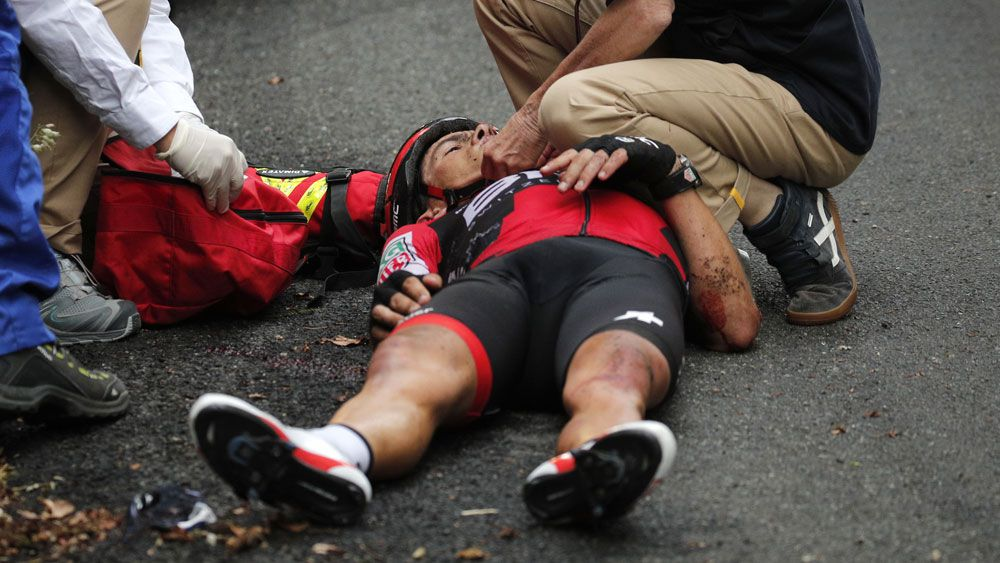 Richie Porte sustained serious injuries when he crashed out of the Tour de France. (AAP)