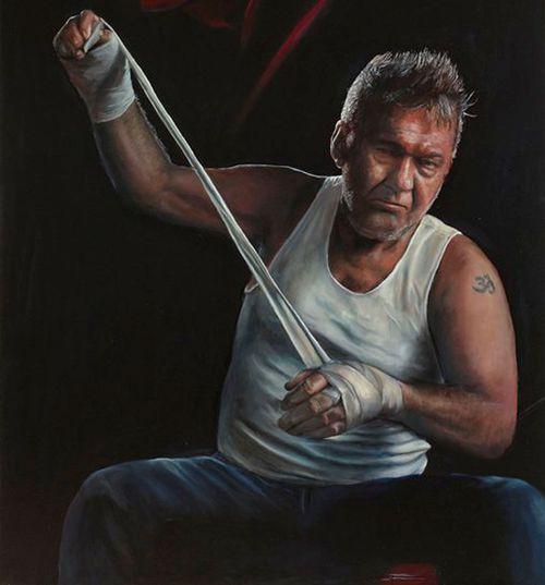 Jamie Preisz's winning portrait 'Jimmy (title fight)'. Image: Art Gallery of NSW