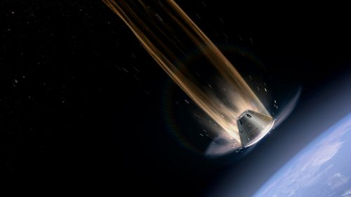 The heat shield of the Orion spacecraft will experience temperatures up to 2,200C. (NASA)