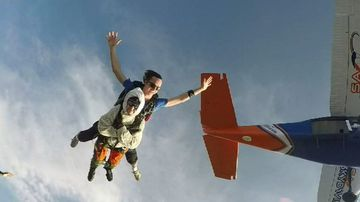 Freefalling great-grandma takes to the skies