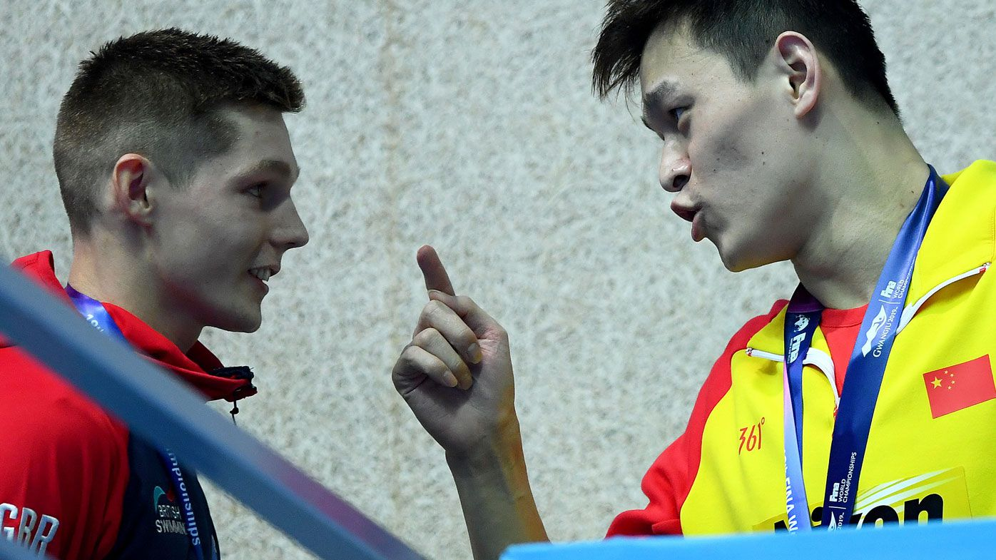 FINA warns Sun Yang and Britain's Duncan Scott after feisty second podium protest