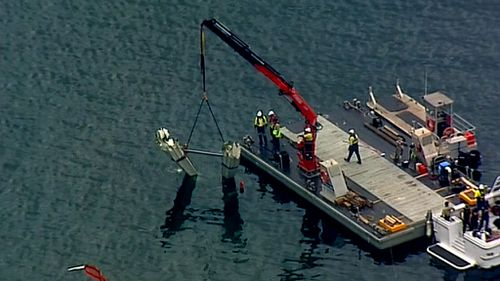The recovery operation began this morning. (9NEWS)