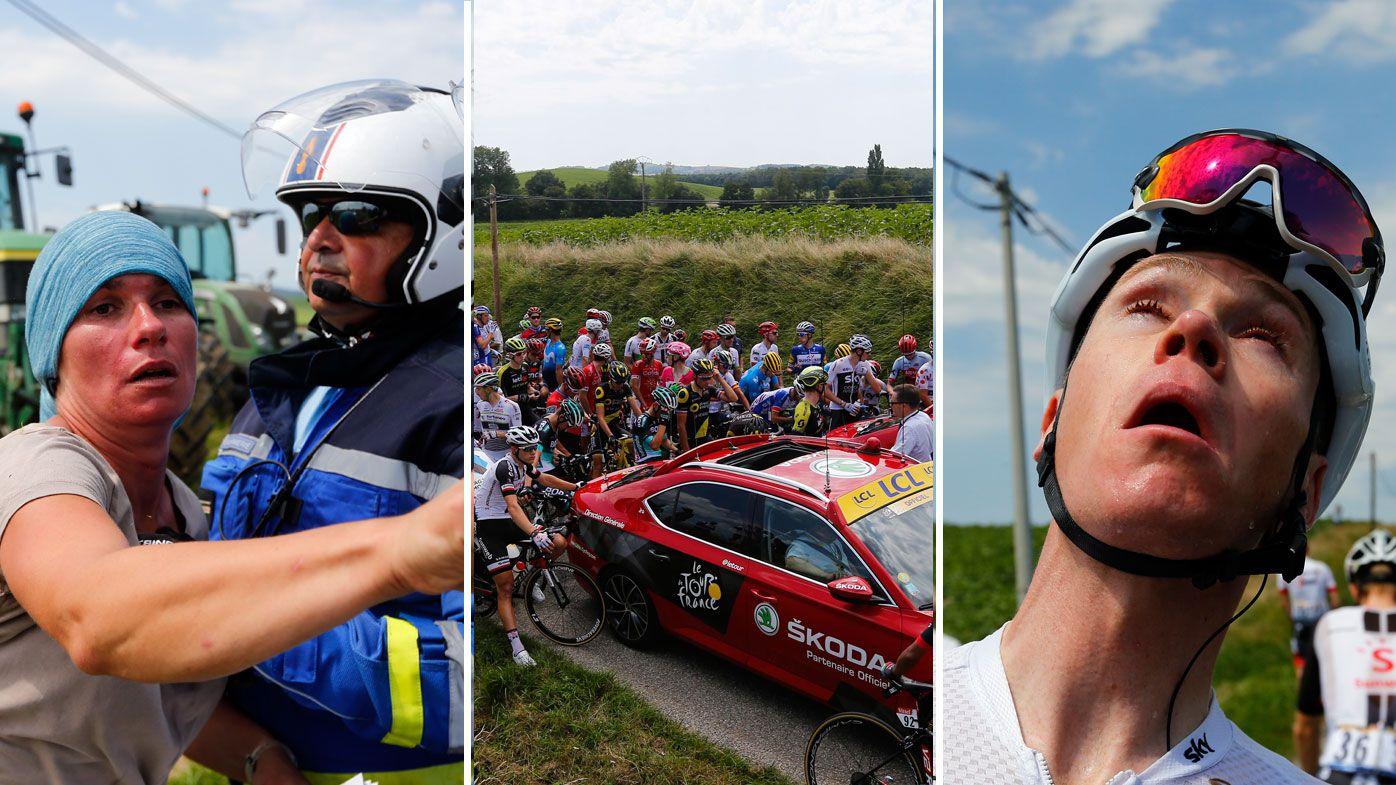 Tour de France director lashes out at protestors after tear gas halts race