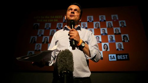 Nick Xenophon's SA Best party is likely to have a presence in the new SA government, he said. (AAP)