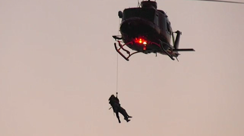 A man and woman also needed help after the Polair helicopter saw them struggling nearby.