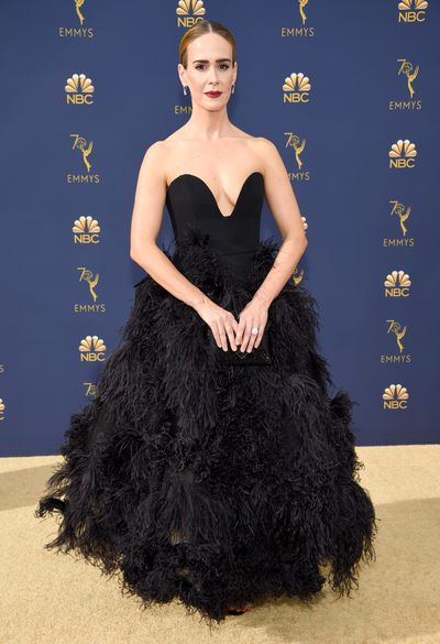 Actress Sarah Paulson at the 70th Emmy Awards