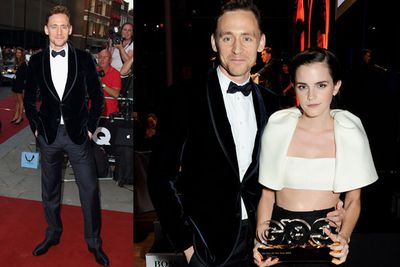 <i>Thor</i> star Tom Hiddleston and Emma Watson.