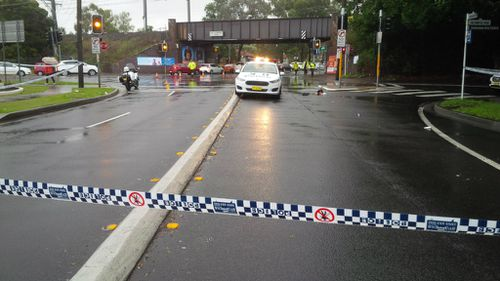 The scene was cordoned off to traffic after the crash. (9NEWS)
