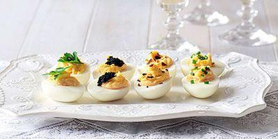 "Recipe:&nbsp;<a href=""http://kitchen.nine.com.au/2016/05/19/12/50/devilled-eggs"" target=""_top"">Devilled eggs</a>"