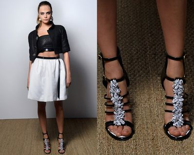<p>It's the little details that landed these A-listers on the best-dressed list. We shine a spotlight on the finishing touches that make the look. First up, Cara Delevingne's Chanel heels.</p>