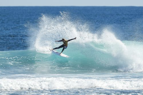 The Margaret River Surf Pro are considering moving the competition due to the threat of sharks. picture: AAP