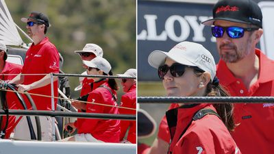 Princess Mary shows competitive side in Sydney Harbour yacht race