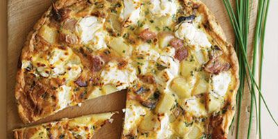 "Recipe: <a href=""http://kitchen.nine.com.au/2016/05/17/12/10/bacon-potato-goats-cheese-frittata"" target=""_top"">Bacon, potato and goats' cheese frittata</a>"