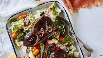"<a href=""http://kitchen.nine.com.au/2017/03/16/13/07/barbecued-satay-beef-steak-salad"" target=""_top"">Barbecued satay beef steak vermicelli salad</a><br /> <br /> <a href=""http://kitchen.nine.com.au/2016/06/06/21/08/perfect-ways-to-serve-the-perfect-steak"" target=""_top"">More steak recipes</a>"