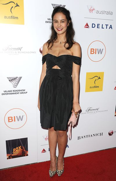 <p>An off-the-shoulder black cut out dress was Courtney's pick for the Australians in Film Awards benefit gala in October last year.</p>