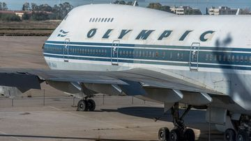 The airport still contains abandoned airplanes belonging to defunct carrier Olympic Airways.