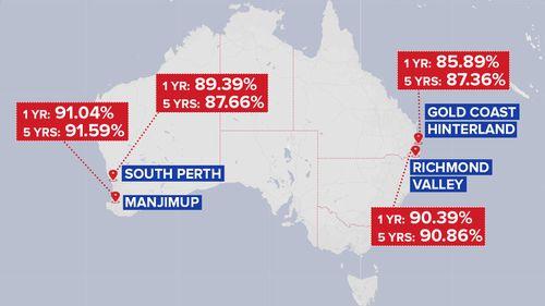 Australia's anti-vaccination hotspots. (9news.com.au)