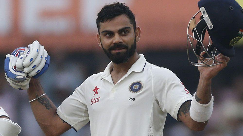 Virat Kohli scored an unbeaten century on day one. (AAP)