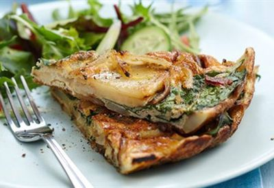 Thursday: Spanish potato and pancetta omelette