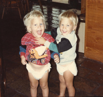 Dan was the youngest twin by one minute. Pictured with his brother Josh.