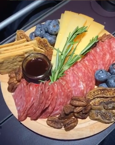 Inflight cheese plate