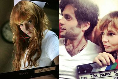 Since being cast as Annie Cresta in <i>The Hunger Games</i>, this Canberra-born actress will star in 2015 flicks <i>The Paper Store</i> alongside Penn Badgley (right) and <i>The Lennon Report</i> with Richard Kind (left). <br/><br/>Images: Instagram