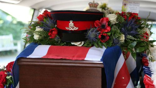 More than 300 attended a Leeds crematorium yesterday to remember the soldier. (Twitter)
