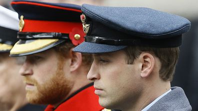 William and harry attend the Remembrance Sunday ceremony at the Cenotaph in London in 2015.