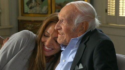 Angelina Jolie and Louis Zamperini.