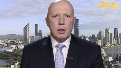 Peter Dutton has called on NSW Premier Gladys Berejiklian to move the border further south.