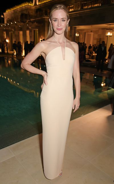 <p>Emily Blunt in Calvin Klein Collection</p>