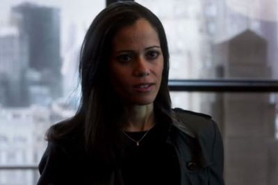 Played by Victoria Cartagena, Renee Montoya is a detective trying to snag the Wayne murder case from detectives James and Harvey. She's also got some kind of romantic history with Barbara Kean.
