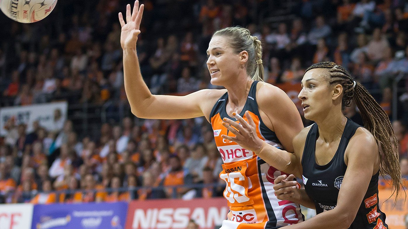 Giants power to first win of Super Netball season against Collingwood Magpies