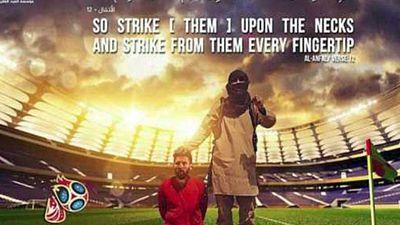 Lionel Messi in sick ISIS propaganda poster