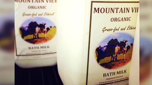 Raw milk is often marketed as a beauty or cosmetic product. (Supplied)