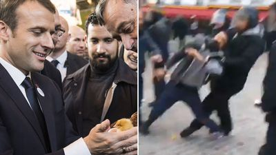 Macron bodyguard facing initial charges over protester beating