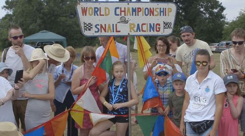 Many come to support the annual snail races. Image: Supplied