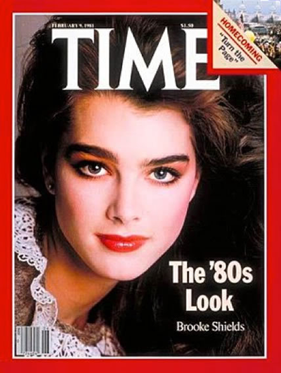 Scoring the cover of <em>Time</em>, Brooke Shield's clean-cut looks and natural brows made her a fashion force.