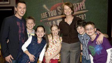 Rove McManus, Julia Gillard, former Prime Minister, game show, kids