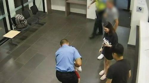 Security camera captures Australian police officer saving choking baby