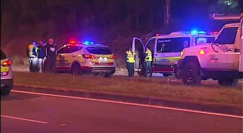 Emergency services arrived but the male driver died at the scene. Image: 9News