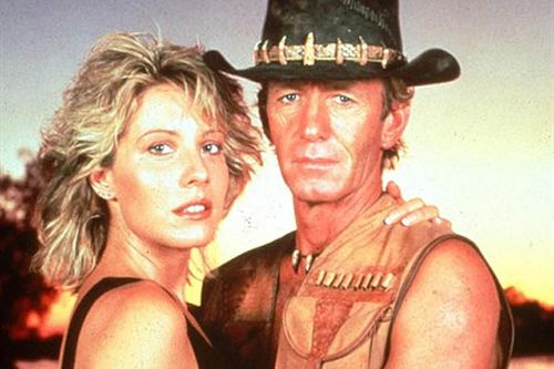 Americans were obsessed with 'Mick Dundee' played by Paul Hogan before Steve Irwin captured their hearts and imaginations.