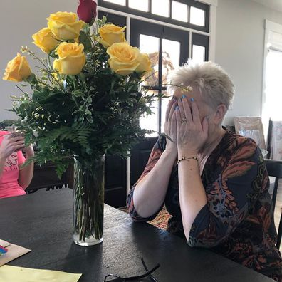 Debra received flowers from her late husband Randy, who passed away in December.