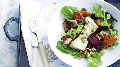 "<a href=""http://kitchen.nine.com.au/2016/05/17/10/00/roasted-vegetable-and-herbed-ricotta-salad"" target=""_top"">Roasted vegetable and herbed ricotta salad</a>"