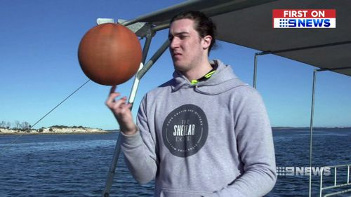 The 20 year old showed off his skills in his hometown of Coffin Bay. (9NEWS)