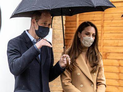 Britain's Prince William and Kate, Duchess of Cambridge visit Newham ambulance station in East London, Thursday March 18, 2021