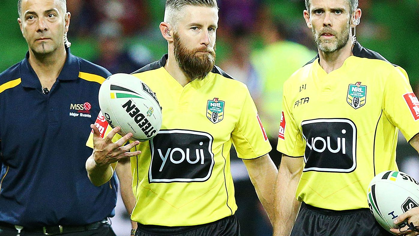 NRL referees walk off ground